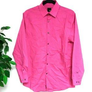 JF J. Ferrar Slim Fit Men's Pink M Dress shirt